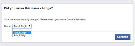 how to change facebook name before 60 days in 2018